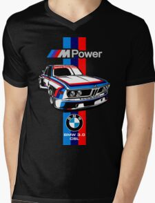 BMW 3.0 CSL Mens V-Neck T-Shirt