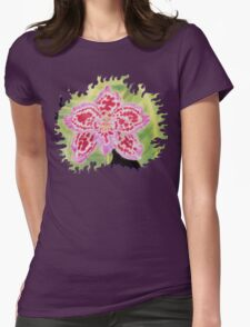 Finca Drac Orchid Womens Fitted T-Shirt