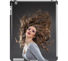 Glamour portrait with flying hair iPad Case/Skin
