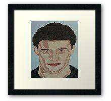 David Boreanaz Angel Bones Buffy Cross Stitch Framed Print