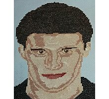 David Boreanaz Angel Bones Buffy Cross Stitch Photographic Print