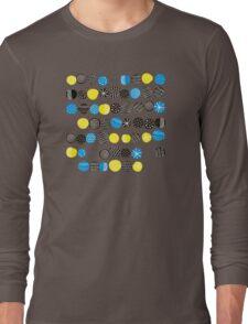 Black on blue Long Sleeve T-Shirt