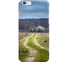 Dirt road to the forest iPhone Case/Skin