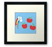 My little Pony - Applejack + Rainbow Dash Cutie Mark Framed Print