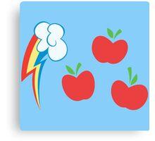 My little Pony - Applejack + Rainbow Dash Cutie Mark Canvas Print