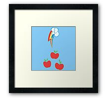 My little Pony - Applejack + Rainbow Dash Cutie Mark V2 Framed Print
