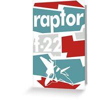 Go Raptor Greeting Card