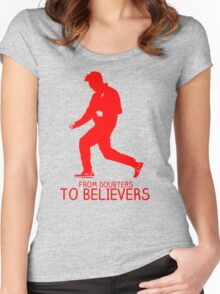 Juergen Klopp Liverpool Celebration Women's Fitted Scoop T-Shirt