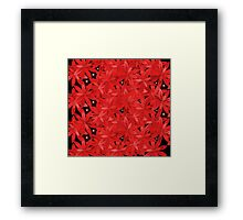 Multitude of flowers in red Framed Print