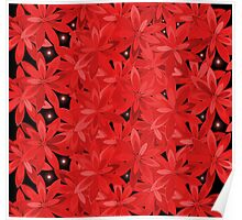 Multitude of flowers in red Poster