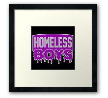 Homeless Boys Framed Print