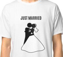 Just  Married Print Stick Figure Classic T-Shirt