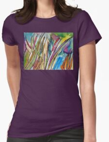 Cattail Landscape Womens Fitted T-Shirt