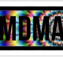 MDMA tie dye Sticker