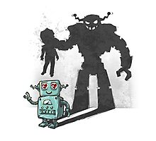 cute robot Photographic Print