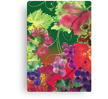 vines and grapes Canvas Print