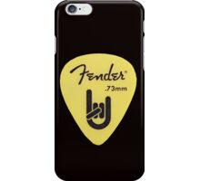 FENDER PICK YELLOW iPhone Case/Skin