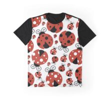 Ladybugs (Ladybirds, Lady Beetles) - Red Black Graphic T-Shirt