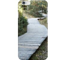 wooden walkway in the forest iPhone Case/Skin