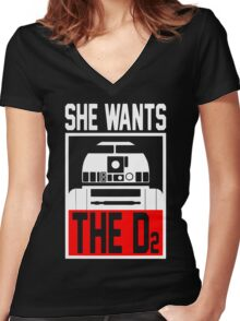 She Wants The D2 Women's Fitted V-Neck T-Shirt
