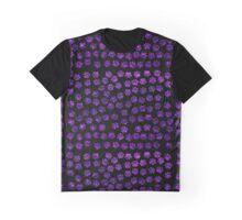 Dog Paws, Traces, Paw-prints, Glitter - Purple Black Graphic T-Shirt