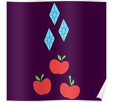 My little Pony - Rarity + Applejack Cutie Mark V2 Poster