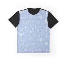 Frosty Snowflakes (Snowfall) - Blue White  Graphic T-Shirt