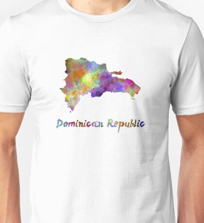 Dominican Republic in watercolor Unisex T-Shirt