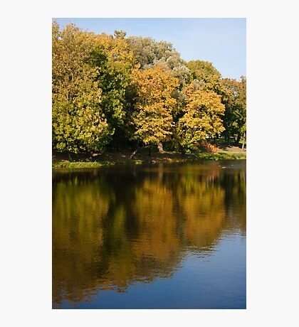 Autumn lake in the park Photographic Print