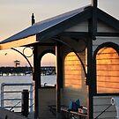 fishing at sundown by Karen E Camilleri