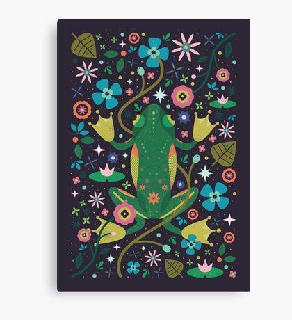 Botanical Frog  Canvas Print