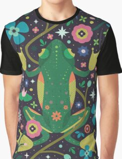 Botanical Frog  Graphic T-Shirt