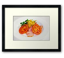 carrot salad with bacon and tomatoes Framed Print