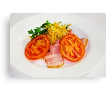 carrot salad with bacon and tomatoes Canvas Print