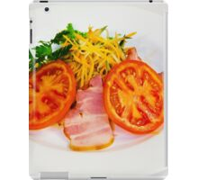 carrot salad with bacon and tomatoes iPad Case/Skin