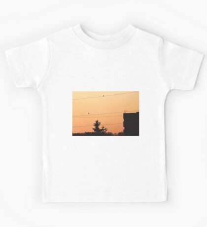 Birds on the wire Kids Tee