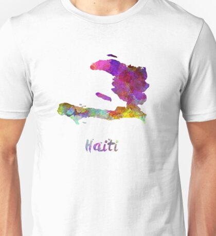 Haiti in watercolor Unisex T-Shirt