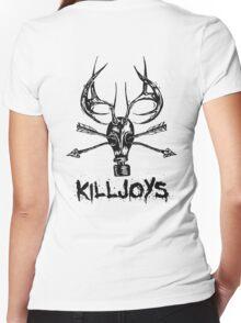 Killjoys.co Attack Black Logo Women's Fitted V-Neck T-Shirt