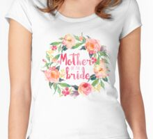 Mother Of The Bride Watercolor Roses Women's Fitted Scoop T-Shirt