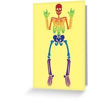 Spooky Rainbow Skeletons (white) Greeting Card