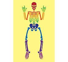 Spooky Rainbow Skeletons (white) Photographic Print
