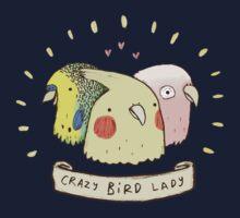 Crazy Bird Lady Kids Tee