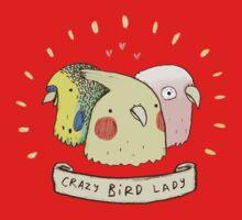 Crazy Bird Lady Baby Tee