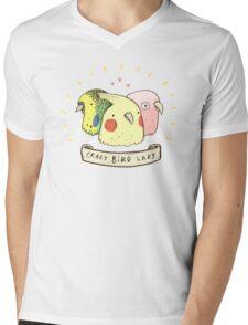 Crazy Bird Lady Mens V-Neck T-Shirt