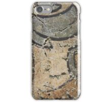Fragment of old mural painting on castle wall iPhone Case/Skin