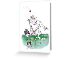 England Cricket fielding, tony fernandes Greeting Card