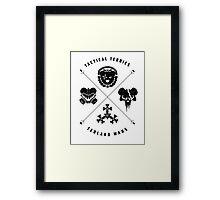 Tedland Wars Tee (Black Print) Framed Print
