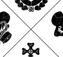 Tedland Wars Tee (Black Print) Sticker