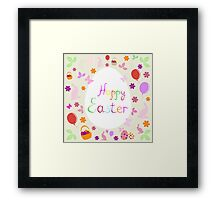 bright Easter greeting card,vector illustration Framed Print