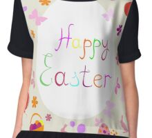 bright Easter greeting card,vector illustration Chiffon Top